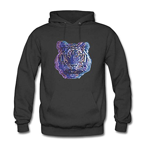 Womens Hoodies Abstract Tiger Head Sweatshirts XXL