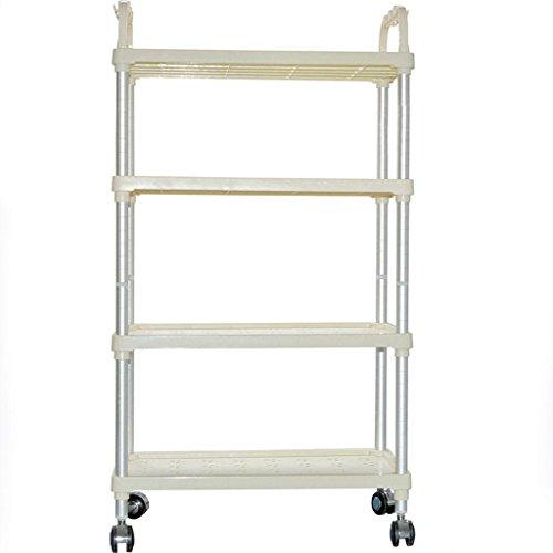 KK-Espace salle de bains cuisine en aluminium étagères en plastique étagères de rangement Spécifications: 600 * 350 * 928MM , beige , 600*350*928mm