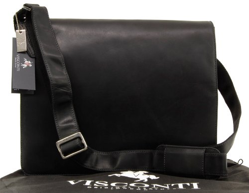 Visconti Leather A4  Messenger Bag