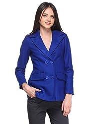 Blue Basic Overcoat