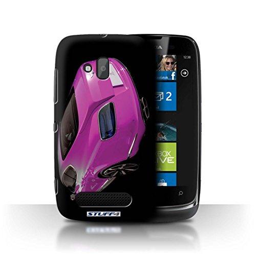 Stuff4 Hülle / Hülle für Nokia Lumia 610 / Continental/Rosa/Rückseite Muster / Bentley Kollektion