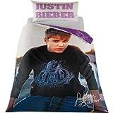 Mädchen Bettwäsche Justin Bieber Horizon (Einzelbett) (Schwarz/Weiß)