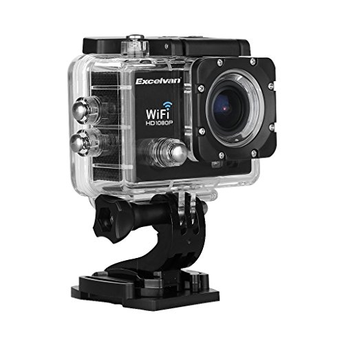 "Excelvan TC-Q5 Full HD Étanche Camera Sport 2.0"" LCD WIFI 1080P 170 degrée + Kit de Support Mounts - Noir"