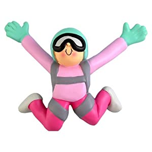 Ornament Central OC-192-F Female Skydiver Figurine