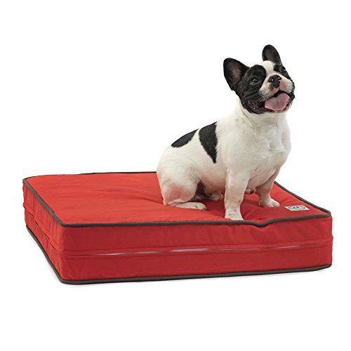 Dog-Bed-Sunset-Red-Orthopedic-Gel-Memory-Foam-Made-in-the-USA-Durable-100-Cotton-Canvas-Cover-Waterproof-Encasement-Machine-Washable-Small-Medium-Large-Dogs