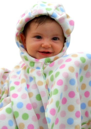 Original Fleece Wrapeaze (Xs) Infant In White Dots front-152047