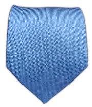 100% Silk Woven Light Cornflower Solid Textured Tie