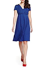 Per Una Broderie Panelled Floral Dress [T62-6685J-S]