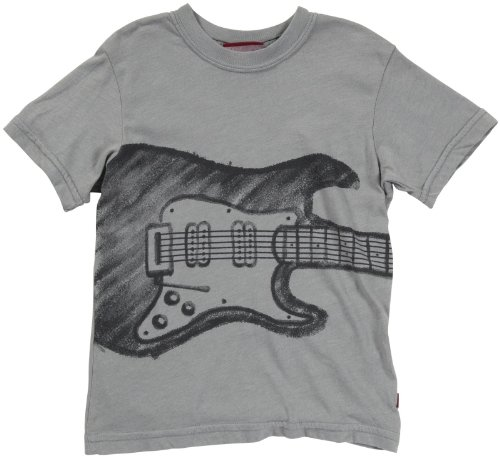 City Threads Little Boys' Electric Guitar Tee (Toddler/Kid) - Road Gray - 4T