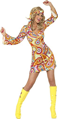 1960s Hippy Girl Floral Fancy Dress.