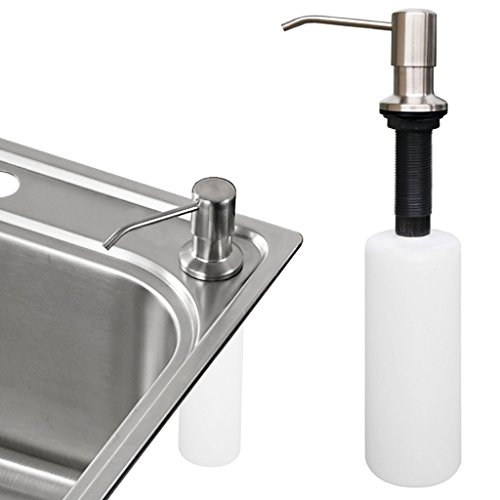 Kitchen Sink Soap Dispenser Sumnacon Stainless Steel Countertop Liquid Dish Built In Hand Lotion Sh