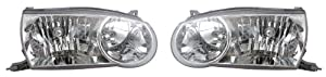 EAGLE EYES PAIR SET RIGHT & LEFT HEADLIGHTS HEADLAMPS LIGHTS LAMPS