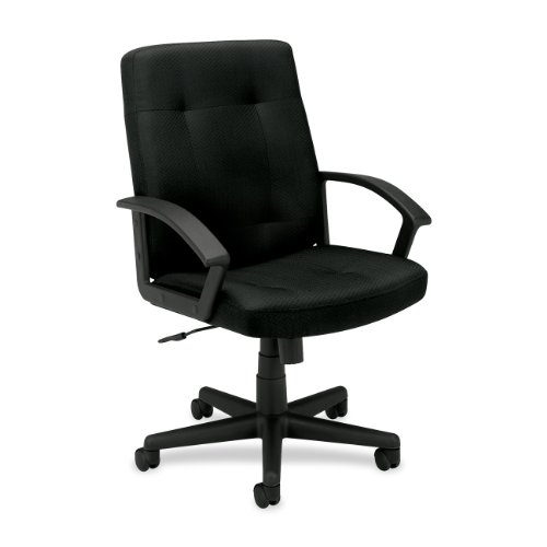 HON HVL602 Executive Mid-Back Chair for Office or Computer Desk, Black