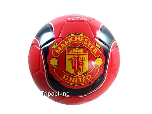 MANCHESTER UNITED FOOTBALL CLUB OFFICIAL LOGO FULL SIZE SOCCER BALL