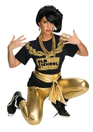 Amazon.com Rubieu0026#39;s Costume Rap Girl Wig Black One Size Old School Hip Hop Costume Clothing