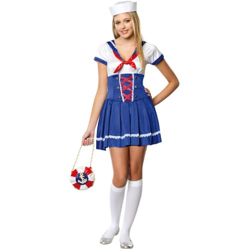 First Mate Sailor Costume - Teen Small/Medium