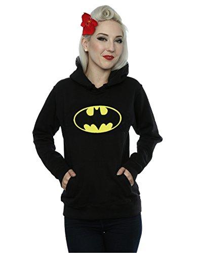 DC Comics Donna Batman Logo Felpa con cappuccio X-Large Nero
