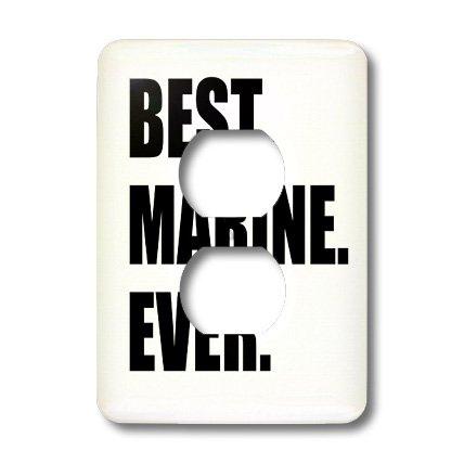 Lsp_185011_6 Inspirationzstore Typography - Best Marine Ever, Fun Appreciation Gift For Your Favorite Marine, Text - Light Switch Covers - 2 Plug Outlet Cover