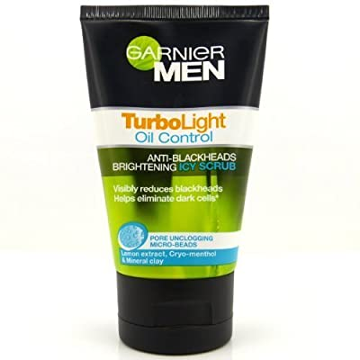 Best Cheap Deal for Garnier Face Cleanser for Men Turbolight Oil Control Anti - Blackheads Brightening Icy Scrub 100ml. by ppmarket - Free 2 Day Shipping Available