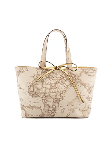 Borsa shopping media Geo Safari con fiocco oro - TU