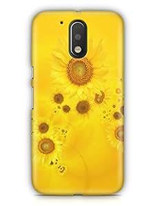 Cover Affair Sun Flower Printed Back Cover Case for Moto E3 / Moto E (3rd Generation)