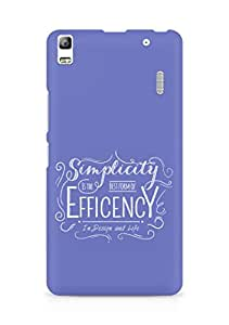 Amez Simplicity is the best form of Efficency Back Cover For Lenovo A7000