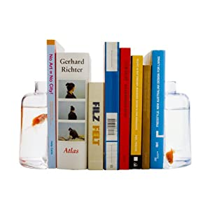 Fish Bowl Bookend Set of 2