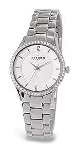 Skagen Women's 347SSX Katja Quartz 3 Hand Stainless Steel Silver Watch