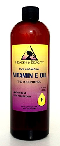 Tocopherol T-50 Vitamin E Oil Anti Aging Natural Premium Pure 16 oz
