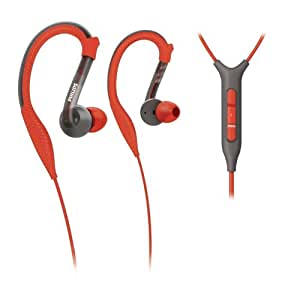 Philips SHQ3217/10 Sport Earhook Headphone with Remote and Mic for iPhone