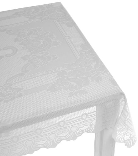 Linen Lorraine Home Fashions: Lorraine Home Fashions Sharon Tablecloth 60 By 120 Inch