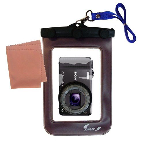 Gomadic Clean-n-Dry Waterproof Camera Case for the Sony Cyber-shot DSC-HX7V * unique floating design