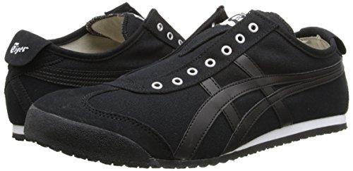 Onitsuka Tiger Mexico 66 Slip-On Classic Running Shoe, Black/Black, 10.5 M US