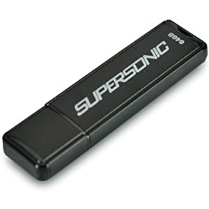 Patriot Supersonic 64 GB USB 3.0 High Performance Shock Resistant Flash Drive (PEF64GSUSB)