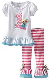 Mud Pie Baby Girls\' I\'m 1 Tunic And Legging Set, Multi, 12 18 Months