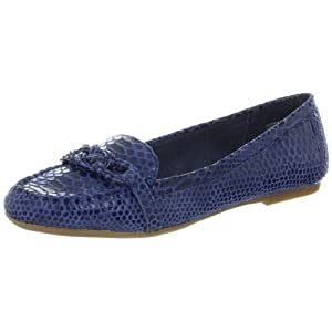 AK Anne Klein Women's Samanta Moccasin,Blue Rp,7.5 M US