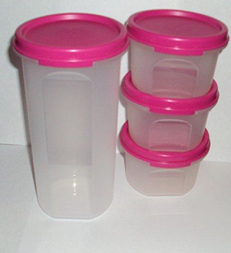Tupperware Modular Mates Round Set of 4 Pink Seals (Tupperware Modular Mates Round 3 compare prices)