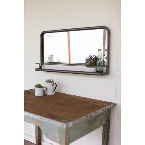 Kalalou Metal Frame 36-Inch x 18-Inch Pharmacy Mirror