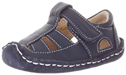 See Kai Run Luke Fisherman Sandal (Infant),Navy,0-6 Months M US Infant