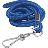GBC BadgeMates Round Lanyards with Swivel Hook, Blue, 12 Lanyards per Pack (3748014A)