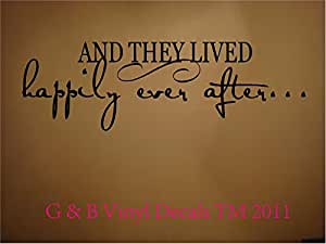 AND THEY LIVED HAPPILY EVER AFTER VINYL WALL DECAL HOME DECOR