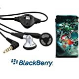 GENUINE Blackberry STEREO Headphones Handsfree Headset Earphones with Microphone for 9780 bold, 9000 BOLD, 9900 BOLD, 9800 TORCH, 9810 TORCH, STORM 9500, STORM 9520, 9520 STORM 2, 9550 STORM 2, TOUR 9630 - Includes free Hi-etech mobile phone sleeve