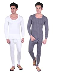 Unix Mens Thermal Wear Full Sleeve Sets - Pack Of 2 (UN3613-$P)