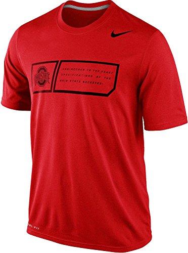 Nike Ohio State Buckeyes Men's Legend Training Day Dri-FIT T-Shirt (XL, Red)