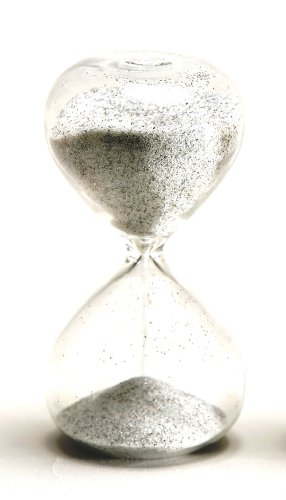 G.W. Schleidt STC10-BW 4-Inch 5-Minute Glass Sand Timer with Black and White Sand (Gw Schleidt Timer compare prices)