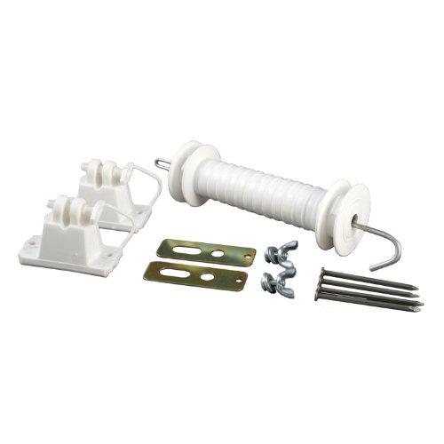 Zareba Wwpgk10 Wood Post Gate Kit, White