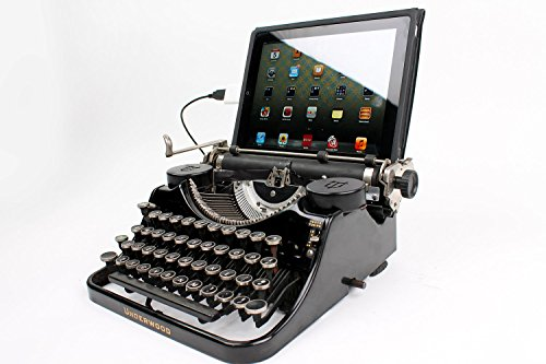 USB Typewriter® Computer Keyboard / iPad Dock -- Black Underwood Model F