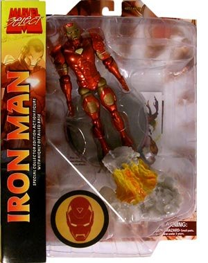 Picture of Diamond Select Marvel Select Iron Man Action Figure (B0016NEFN8) (Iron Man Action Figures)