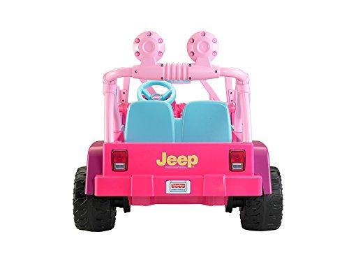 Barbie Electric Car: Power Wheels Barbie Jammin Jeep Wrangler, Dark Pink