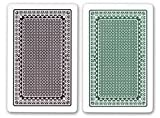 Kem Playing Cards: Kem Alpha Playing Cards, Two Deck Set (One Brown And One Green Deck)